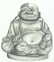The Little Laughing Buddha by hippy-girl