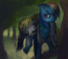 clumsy filly by blu-red