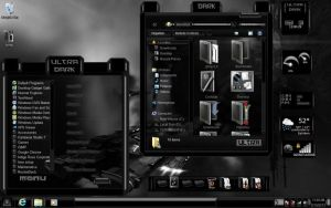 BLACK DARK ULTRA THEME WIN 7 by ToxicoSM