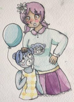 Kat And Bluebear by pastelpearls