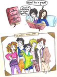 The Cullen Kids 1985 color by PsychoPyro813