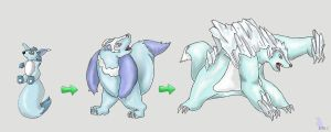 Fakemon- Water Starter by werepenguin