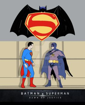 Batman v Superman Classic TV Poster by tvcrazyman