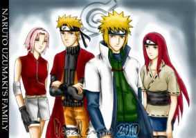 naruto's family by noodlemie