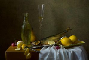 Still life with fish by An-gora