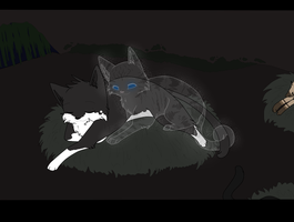 Poisonwhiskers and Perlpaw - ArtTRADE by Niutellat