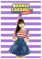 Raina - Orange Caramel - Tablet/Phone Wallpaper by wiarae