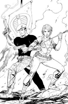 Flint and Lady Jaye commish by ColtNoble
