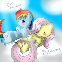 MLP Rainbow Dash n Fluttershy by Jess-chanz