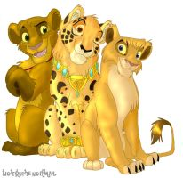 Three Big Cats by Not-Quite-Normal