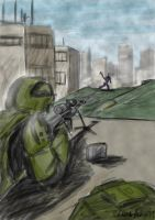 Halo UNSC sniper -coloured- by voldseth