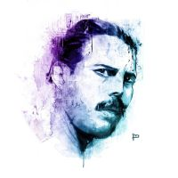Freddie Mercury Portrait by Prestegui