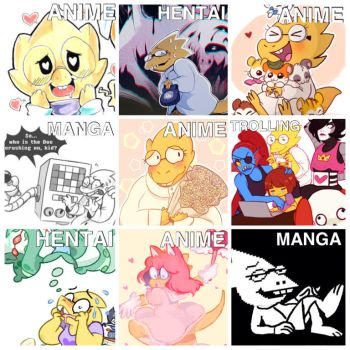 The Incredibly Various Expressions Of Alphys by xandermartin98