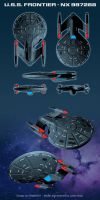 USS Frontier - commission by KinkyInks