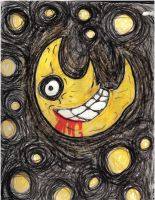 Soul Eater Moon Crayon Drawing by blackcathasme