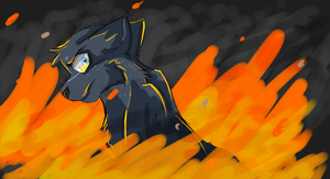 Fire in his eyes by AHSystemDown