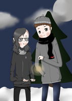 Winter contest entry -A winter with you by MonkeysGoneWild