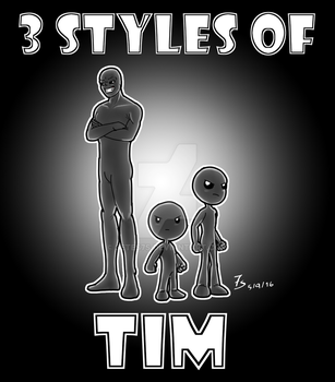 3 styles of Tim by setes7s