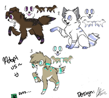 .: CLOSED :. Point Canine Adopts ~ Cheap:) by EC-Adopts
