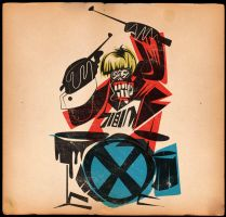 ON DRUMS by MY-METAL-HAND