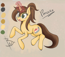 Pony OC Pancake by BlacksWhites