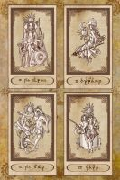 Tarot cards IV to VII by Karla-Chan