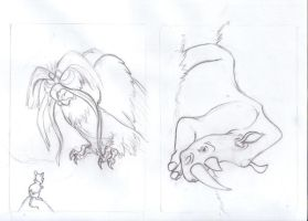 Rhino and NIMH atc sketches by tursiart