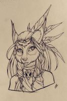 Sketch: Helena 2.0 by Foxiart