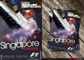 2010 Singapore GP Flyer by brandonseaber