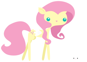 Fluttershy and Angel by Crown-Heart