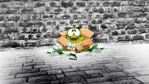 Cut the Rope - The Box Wallpaper by zsoltott