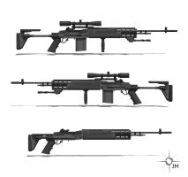M14 EBR Side View by TheOrangeGuy