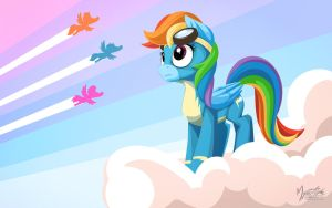Rainbow Dash Wonderbolt by mysticalpha