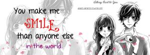You Make Me Smile Than Anyone Else In The World 1 by Ayano27