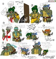 Gag Sketches - Leonardo Lightens Up by nichan
