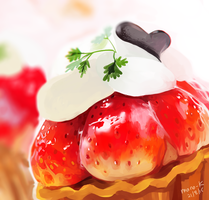 strawberry tart thing by mano-k