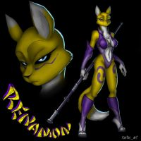 Renamon by Kostosart