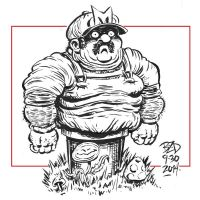 Fat Mario by MisterBZD