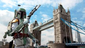 Boba Fett at Tower Bridge, London by SpaceAvocado