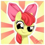 Apple Bloom Smirk by mysticalpha