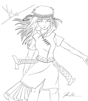 Yin Lineart with Photoshop by Keh-ven