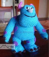 Sully monster by Mirtha Amigurumis by MirthaAmigurumis
