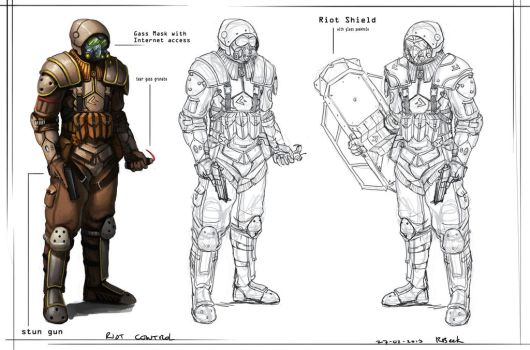 riot control concept by RogierB