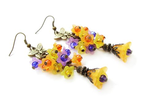 [FOR SALE] Autumn floral earrings by Benia1991