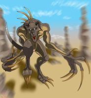 Deathclaw Charge by DestroyahDes