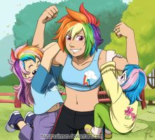 Exercising with Mom by HazuraSinner