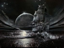 Sail Through the Night Decoupage by bslirabsl