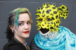 Me and the puffer fish by CupCakeMonsterCrafts