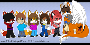 Chibi Friends P2 by BlackWingedHeart87