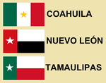 Flags of Northeastern Mexico by 3D4D